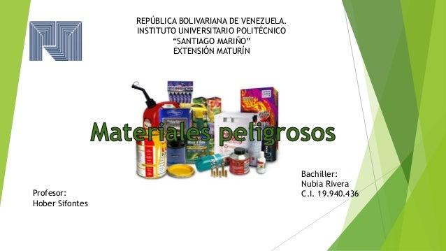 "REPÚBLICA BOLIVARIANA DE VENEZUELA. INSTITUTO UNIVERSITARIO POLITÉCNICO ""SANTIAGO MARIÑO"" EXTENSIÓN MATURÍN Profesor: Hobe..."