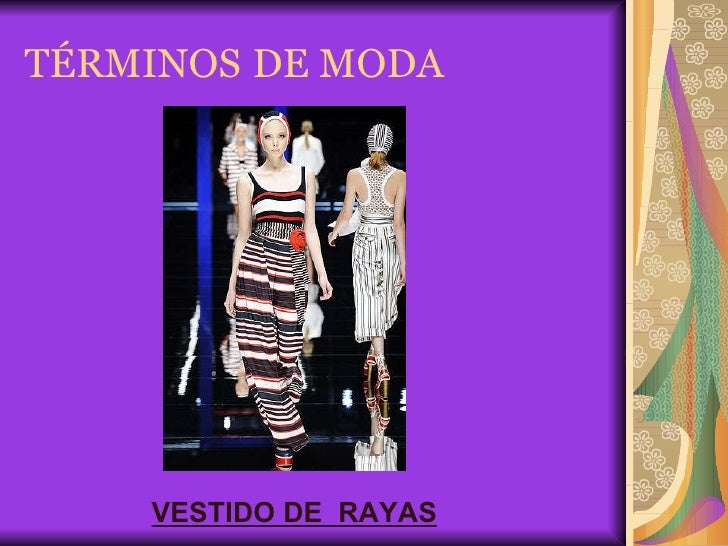 Términos de moda textil