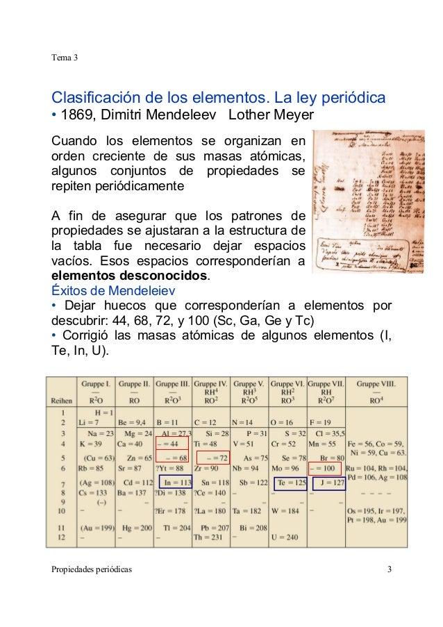 Tabla peridica qumica general d mendeleiev lyer 3 urtaz Gallery