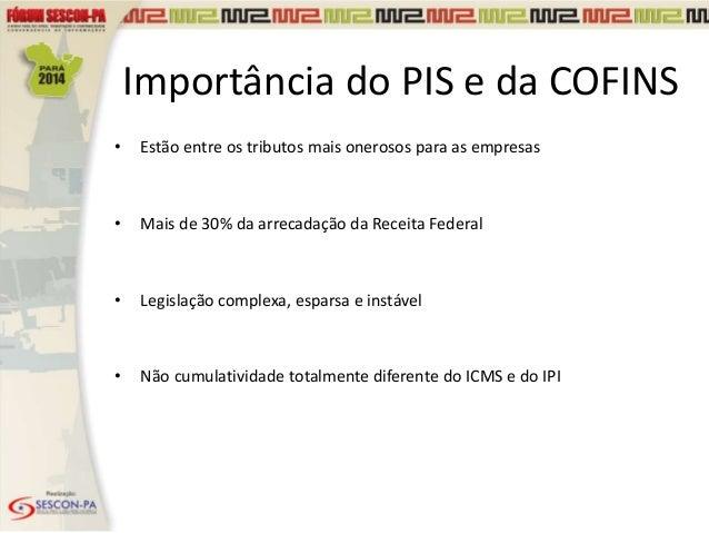 PIS e COFINS Lei nº 12.973/14, Riscos, Benefícios e Impactos da EFD-Contribuições Slide 3