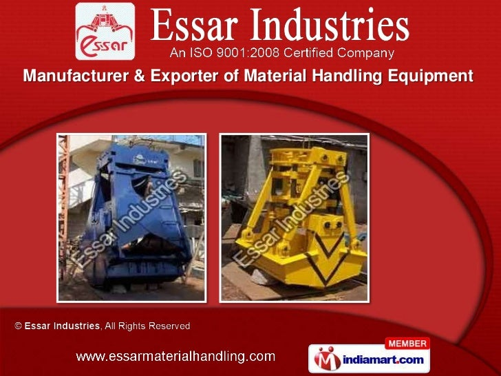 Material Handling and Allied Equipment by Essar Industries, Coimbatore