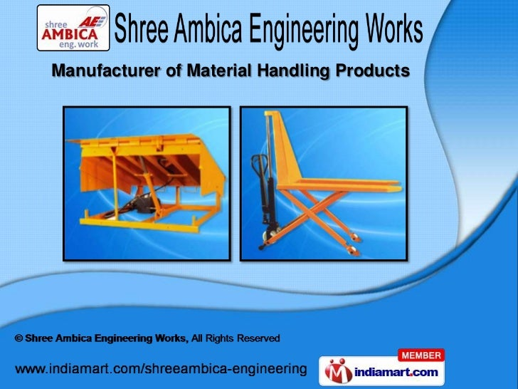 Manufacturer of Material Handling Products
