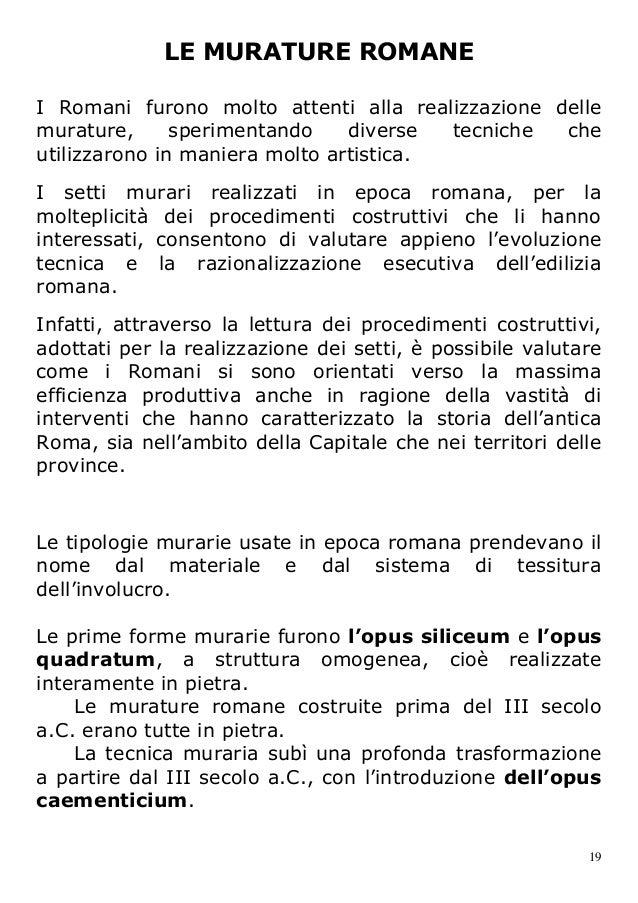 Materiali lapidei 3 architettura romana for Malta materiale