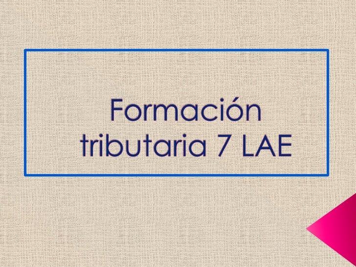 Formación tributaria 7 LAE<br />