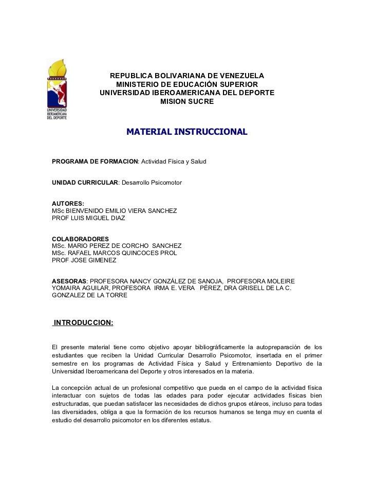 REPUBLICA BOLIVARIANA DE VENEZUELA                     MINISTERIO DE EDUCACIÓN SUPERIOR                 UNIVERSIDAD IBEROA...