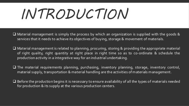 Material Management & Inventory Management