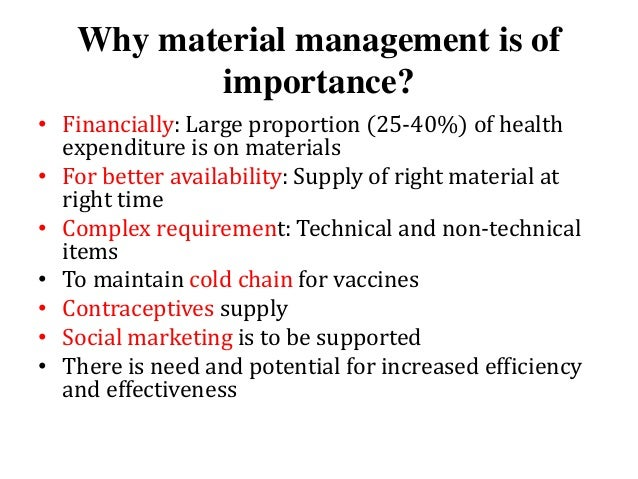 Materials Management's Five Critical Processes and People