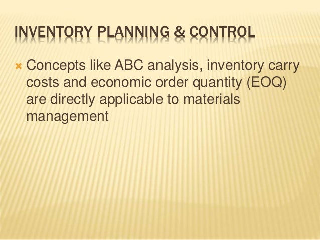 an analysis of the inbound flow of inventory and the materials management Inventory is an important aspect in distribution management inventory control & management  for materials,  analysis inventory control and management.