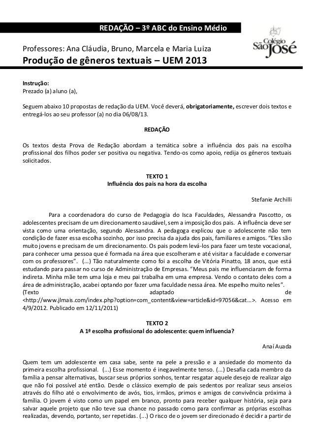 REDAÇÃO – 3º ABC do Ensino Médio o Professores: Ana Cláudia, Bruno, Marcela e Maria Luiza Produção de gêneros textuais – U...