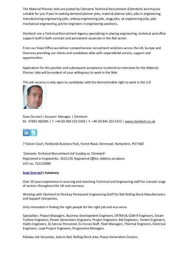 Material Planner Jobs Ref 1407-24