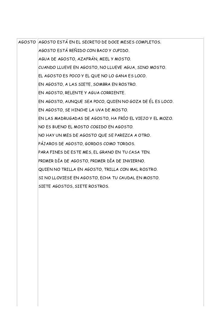 AGOSTO AGOSTO ESTÁ EN EL SECRETO DE DOCE MESES COMPLETOS.        AGOSTO ESTÁ REÑIDO CON BACO Y CUPIDO.        AGUA DE AGOS...