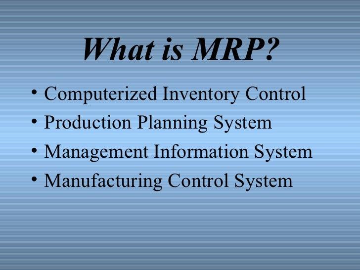Material requirement planning presentation Slide 3