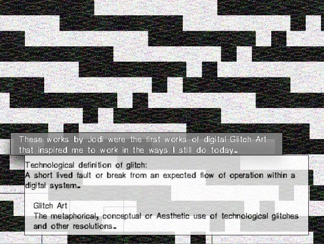 The Glitch Moment(um) Network Notebooks 04, Institute of Network Cultures, 2011. ISBN: 978-90-816021-6-7. I also wrote abo...