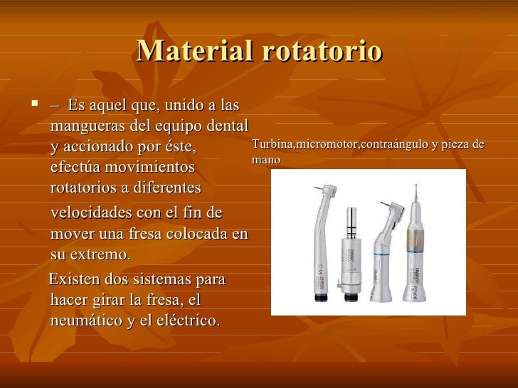 Material rotatorio odontologia Slide 2