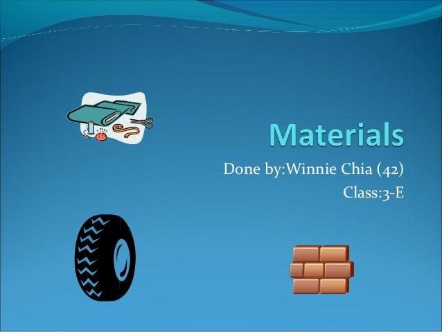 Done by:Winnie Chia (42) Class:3-E