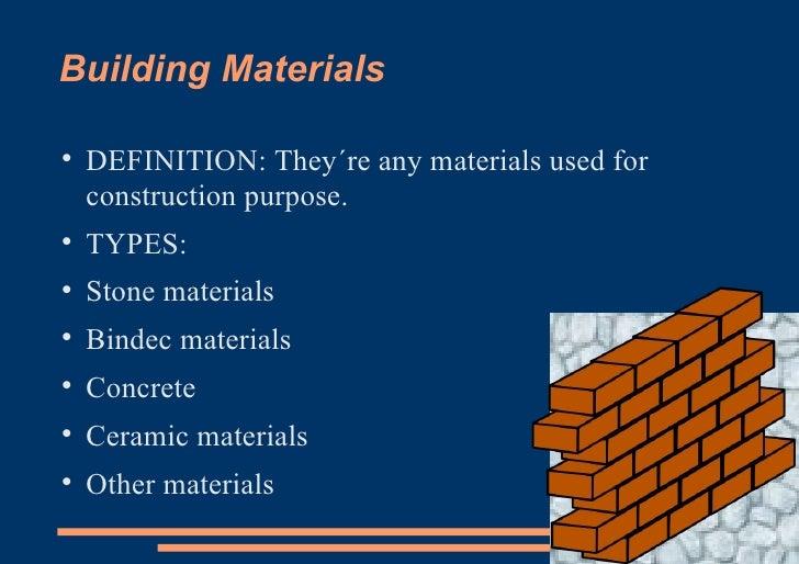 Building Materials .