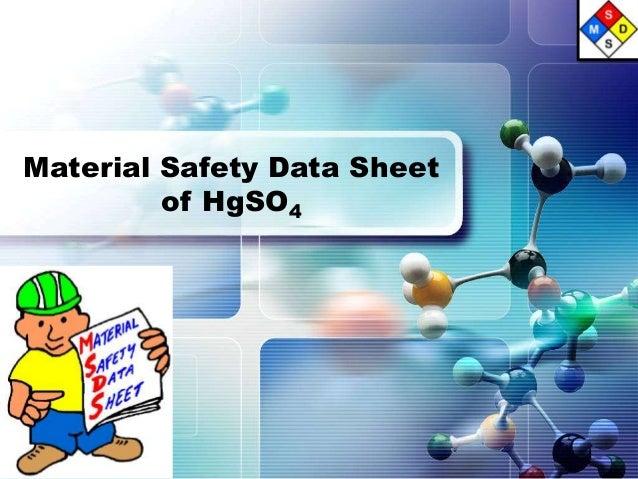 Material Safety Data Sheetof HgSO4