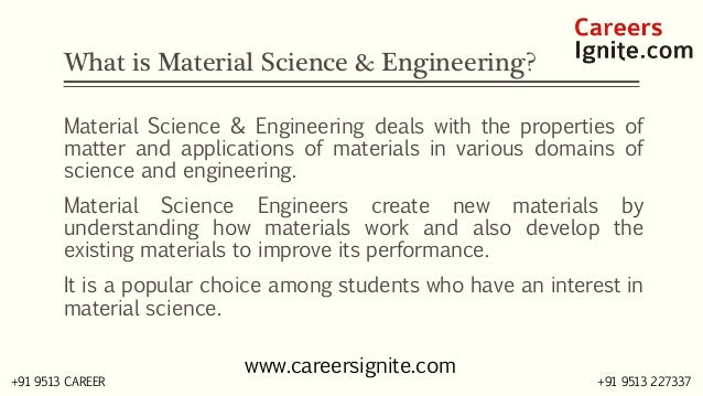 Material Science and Engineering Courses, Colleges, Eligibility Slide 2