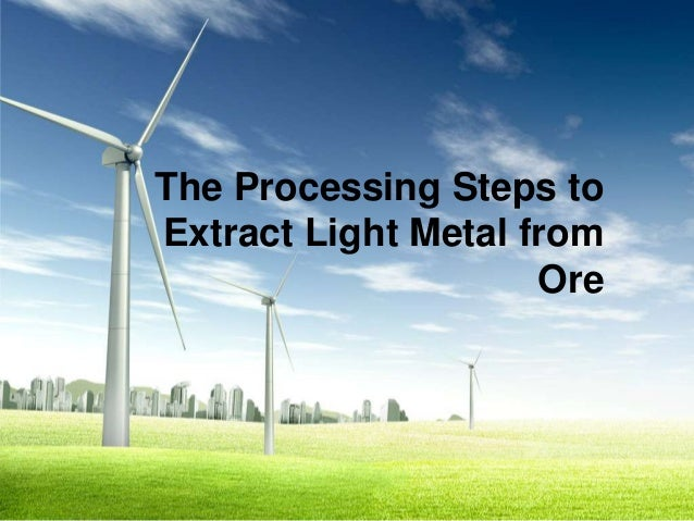 The Processing Steps toExtract Light Metal from                     Ore