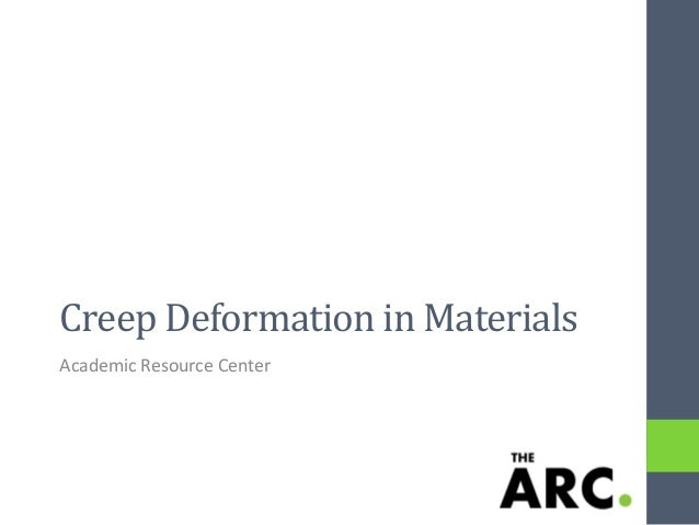 Creep Deformation in Materials Academic Resource Center