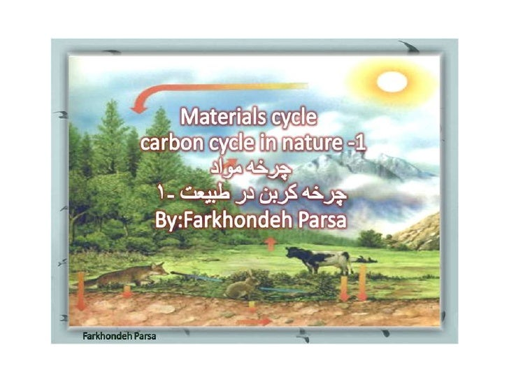 Materials cycle carbon -1-2-3-4