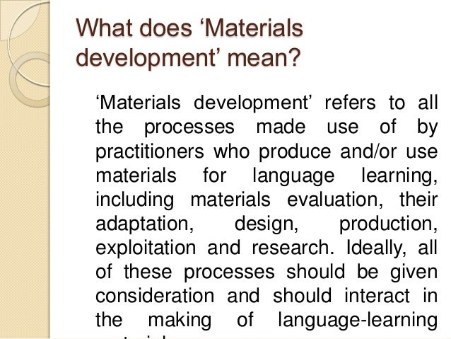 Materials Development For Language Learning And Teaching border=