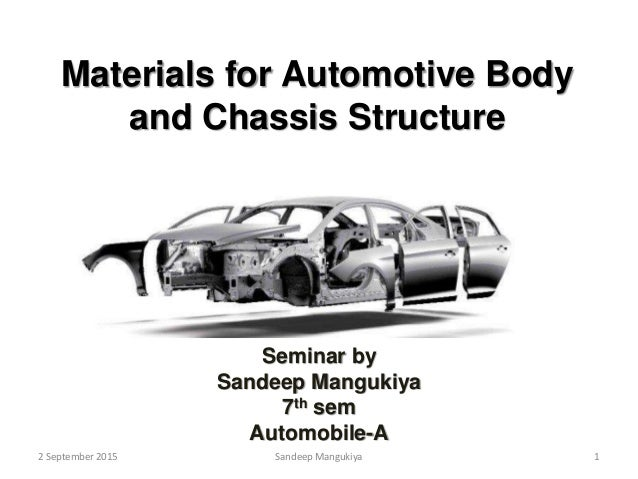 Materials for automotive body and chassis structure by sandeep manguk…