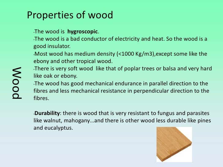 Materials For Technical Use Wood