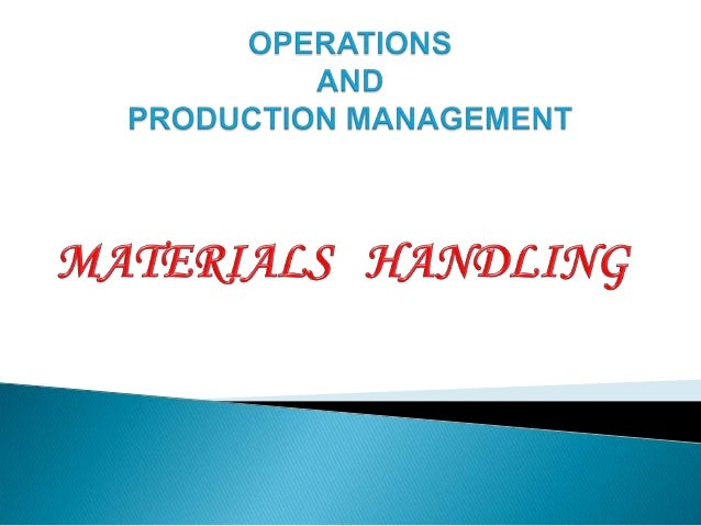 Materials handling is the art and science of moving,packing and storing ofsubstances in any form.