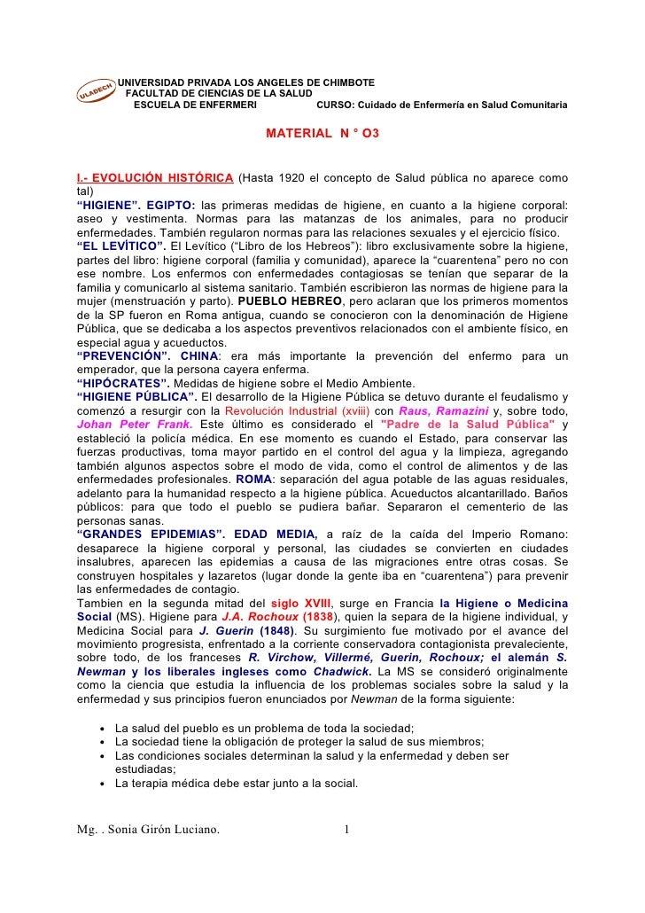 UNIVERSIDAD PRIVADA LOS ANGELES DE CHIMBOTE         FACULTAD DE CIENCIAS DE LA SALUD           ESCUELA DE ENFERMERI       ...