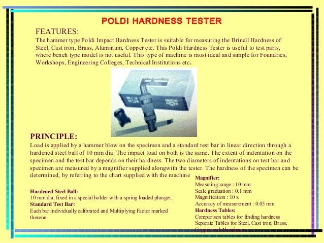 Poldi hardness test