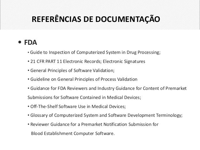 fda glossary of computerized system and software development terminology