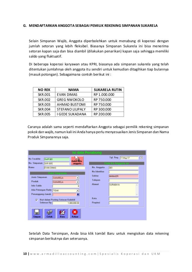Materi Pelatihan Akuntansi Komputer Usaha Simpan Pinjam Koperasi
