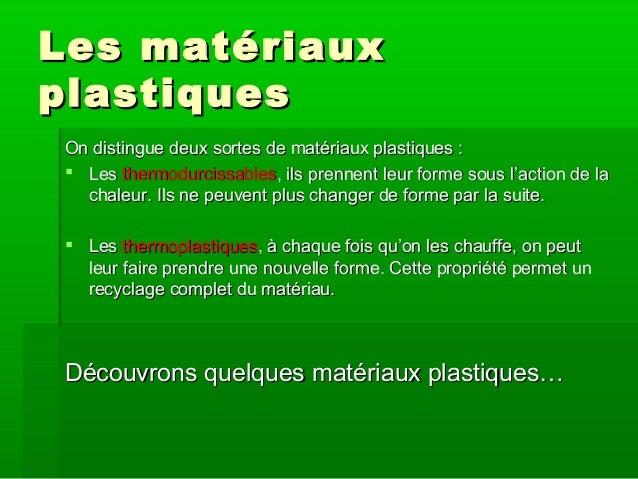 Les materiaux - Materiaux net ...