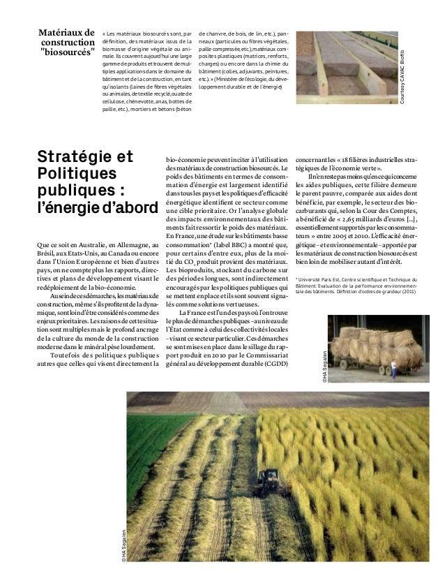 Materiaux construction retour au bio ressources ademe for Construction bio