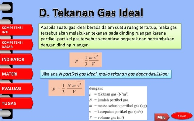 Gas Ideal Volume V Suhu T