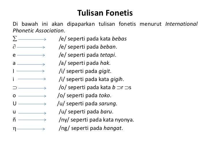 Materi Fonologi Bahasa Indonesia