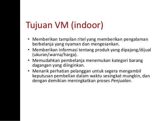 Belajar Visual Merchandising