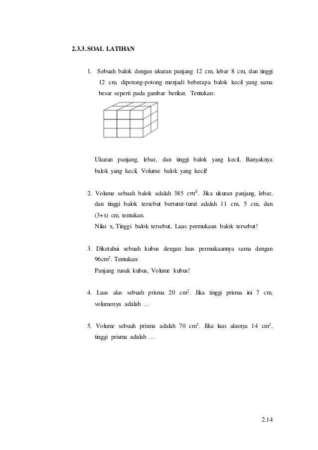 Materi matematika bangun ruang di SD