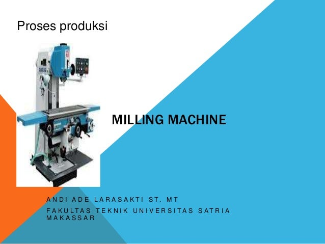 learning milling machine