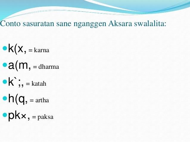Materi Pasang Aksara Bali