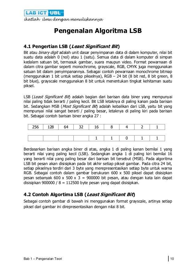 Materi Pelatihan Steganografi Metode Lsb