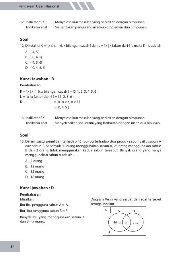 Soal Dan Kunci Jawaban Matematika Himpunan Kunci Jawaban