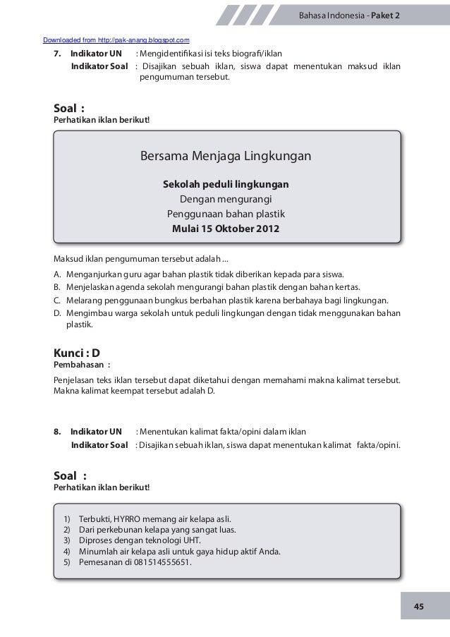 Contoh Soal Hots Bahasa Indonesia Materi Tentang Pembuatan Iklan Jawabanku Id