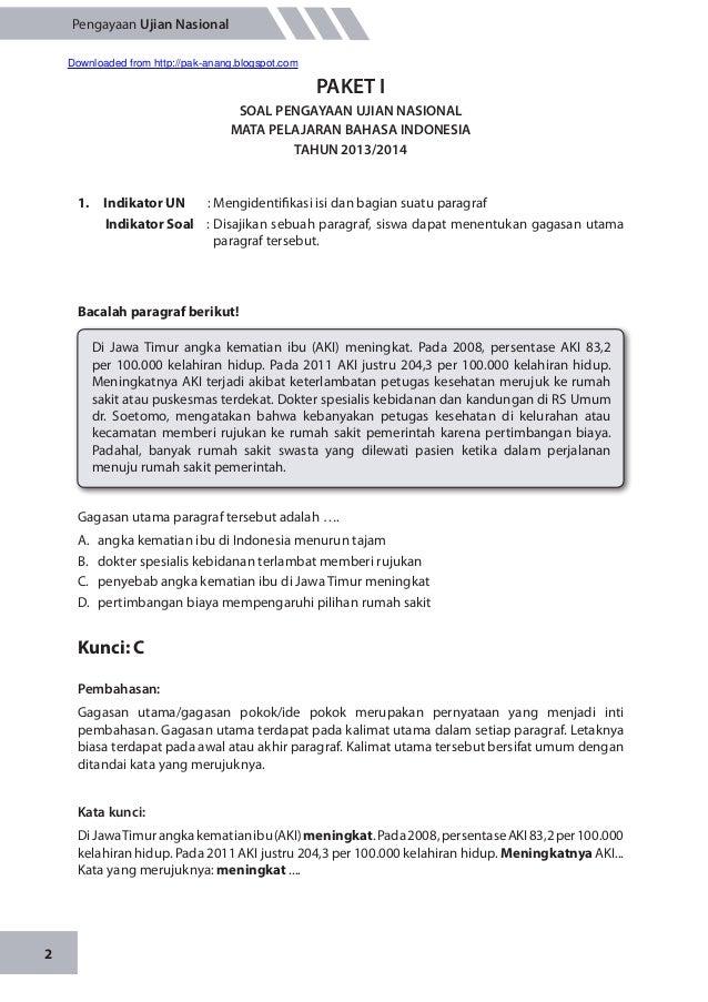 Materi Pengayaan Un Bahasa Indonesia Smp M Ts 2014