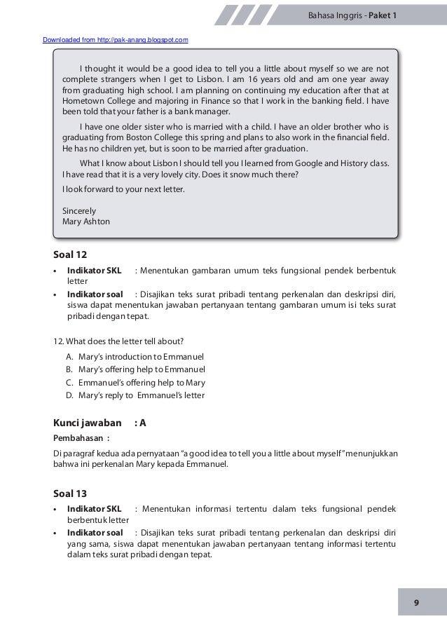 Materi Pengayaan Un Bahasa Inggris Smp Mts 2014