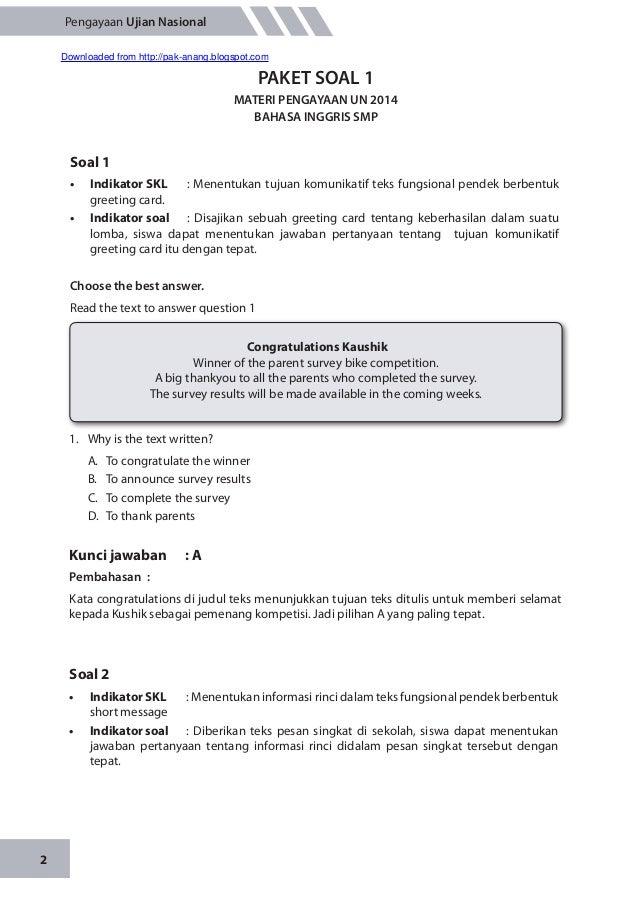 Contoh Soal Essay Congratulation Dan Jawabannya Kelas 9 Kumpulan Soal Pelajaran 3