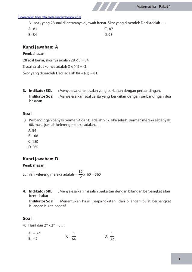 Materi Pengayaan Un Matematika Smp M Ts 2014