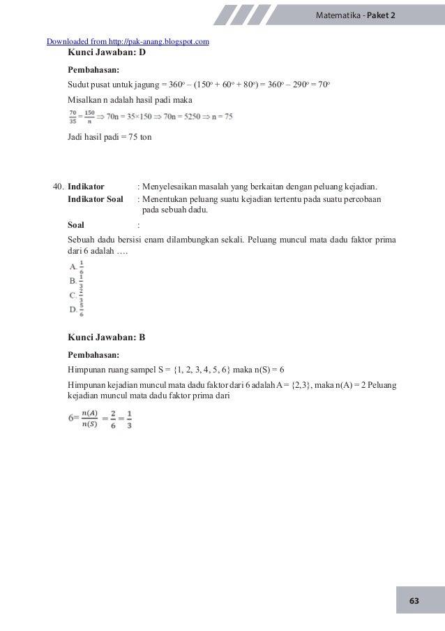 Materi Pengayaan Un Matematika Smp M Ts 2015