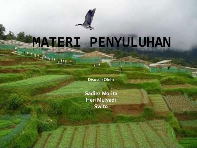 Materi Penyuluhan Pertanian